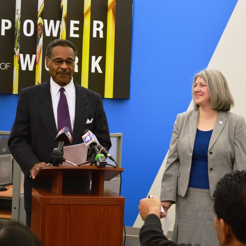 Congressman Cleaver Visits Goodwill's GoodWORKS Career Center